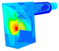 CFD Results Showing Surface Temperature Contours