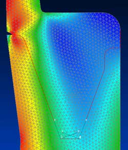 Axisymmetric Finite Element Model of Pressure Vessel