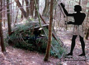 A simple Woodland Shelter - The Earliest Length Measurements Probably involved using Body Parts to Fit Things Together