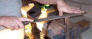 filing metal part